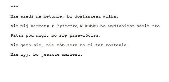 Poetry Poem Wiersz Wiersze Poezja Proza Tumblr