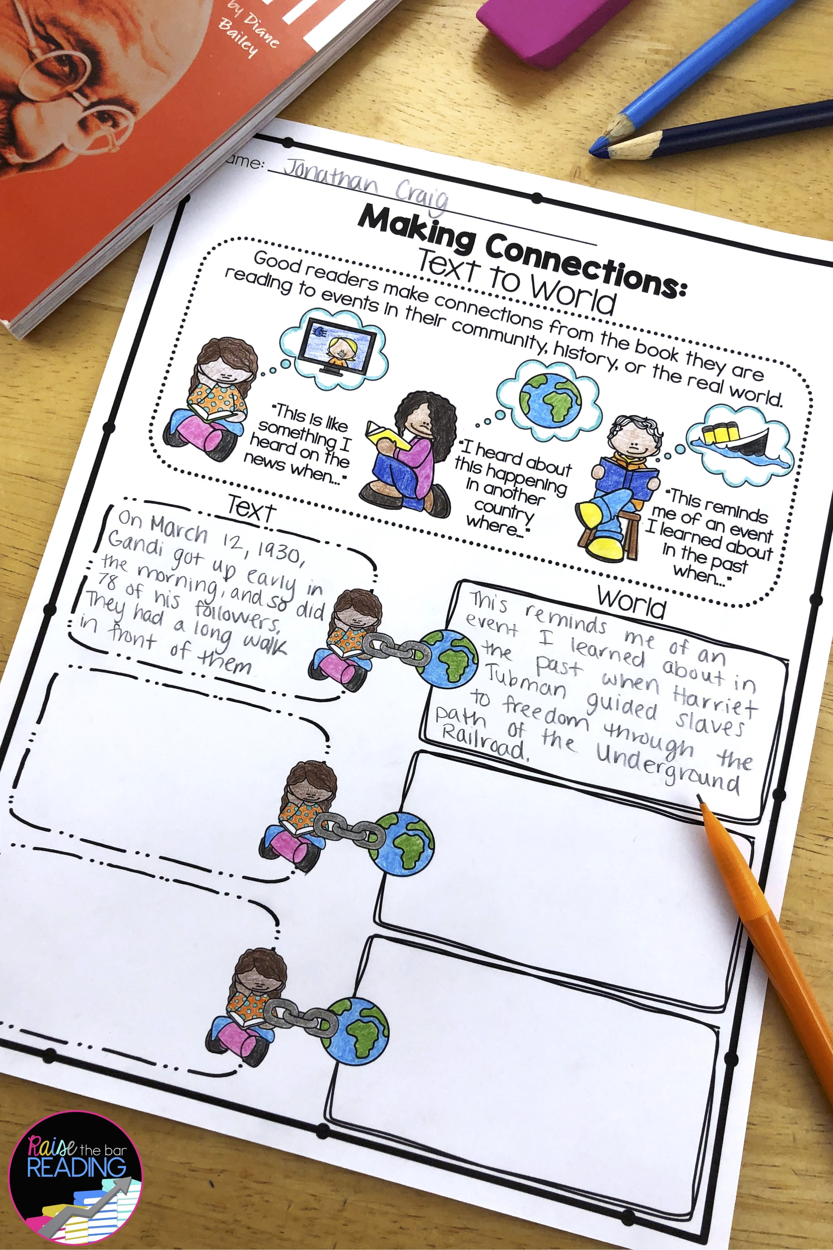 Making Connections Graphic Organizers Reading Comprehension Strategies Graphic Organizers Making Connections [ 4050 x 2700 Pixel ]