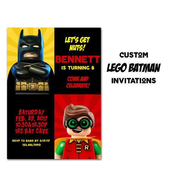 Lego Batman Birthday Invitation Lego Movie Party Invitation Lego