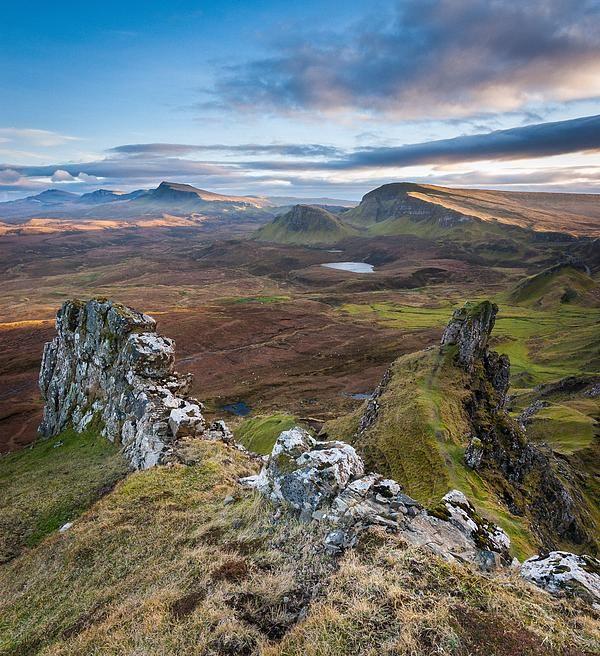 Dreamland - Sunset over the mountains ridge