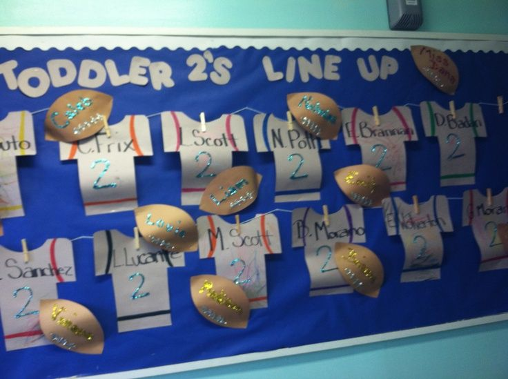 September bulletin board idea could change jerseys to say each teachers name for...,  #Board ... #novemberbulletinboards