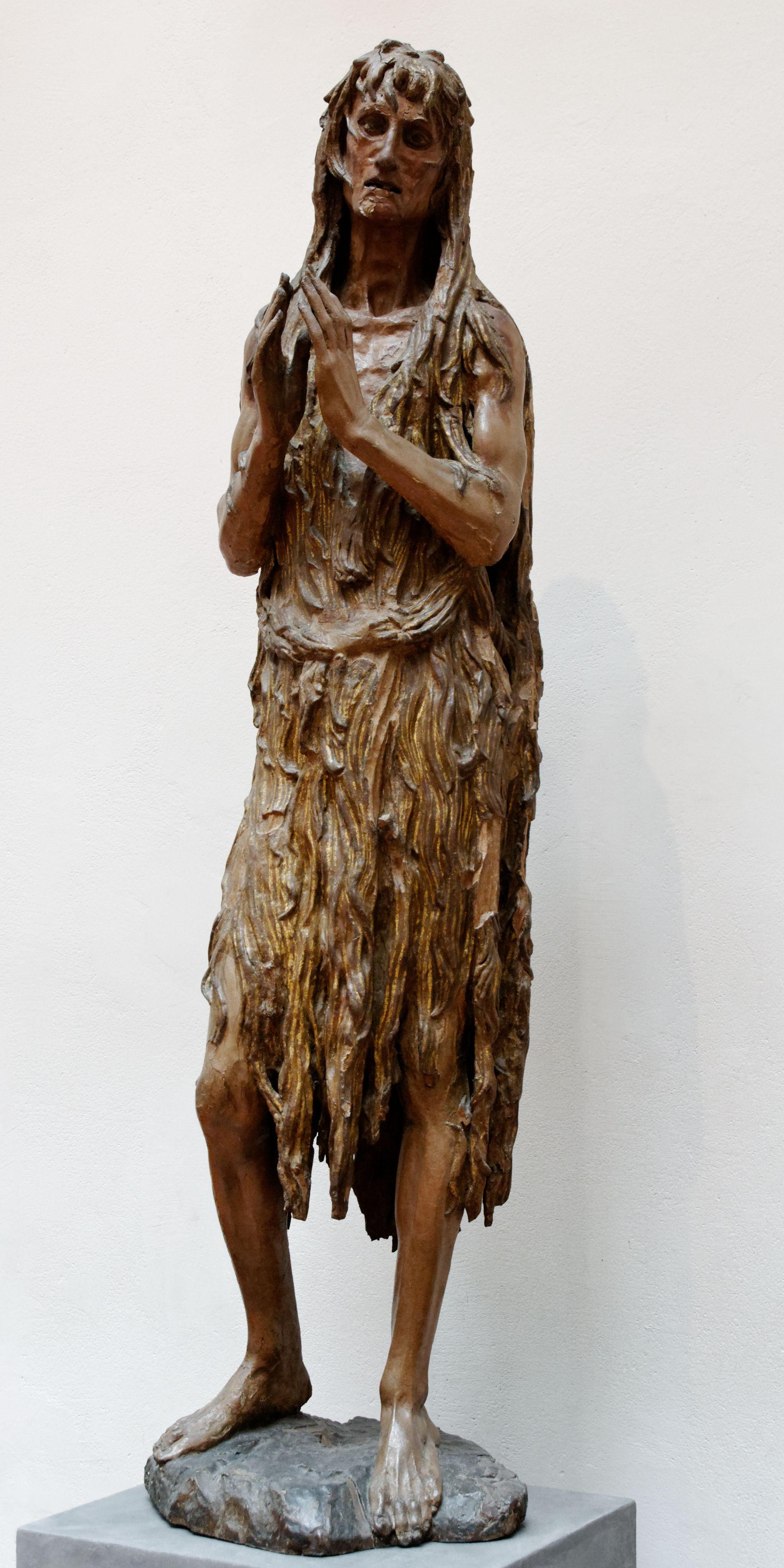Mary Magdalene   Donatello   Painted wood and gilt ...