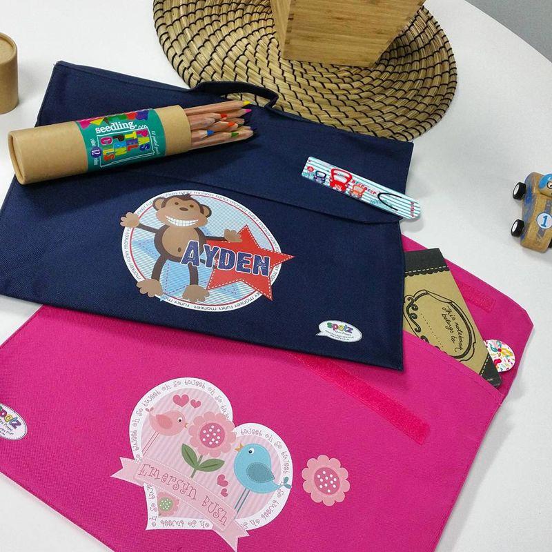 Personalised Kids Waterproof Library Book Bags