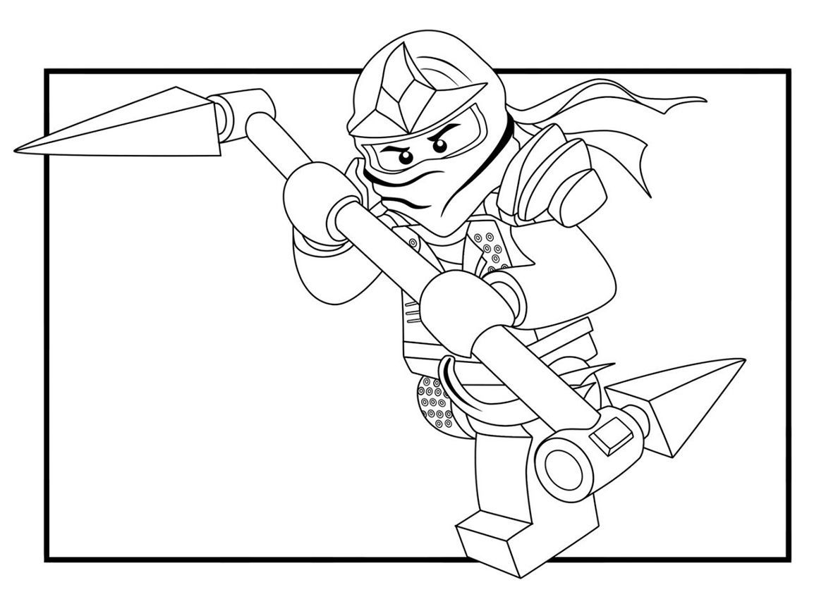 Ninjago Lloyd Coloring Pages Picture in 2020 Lego