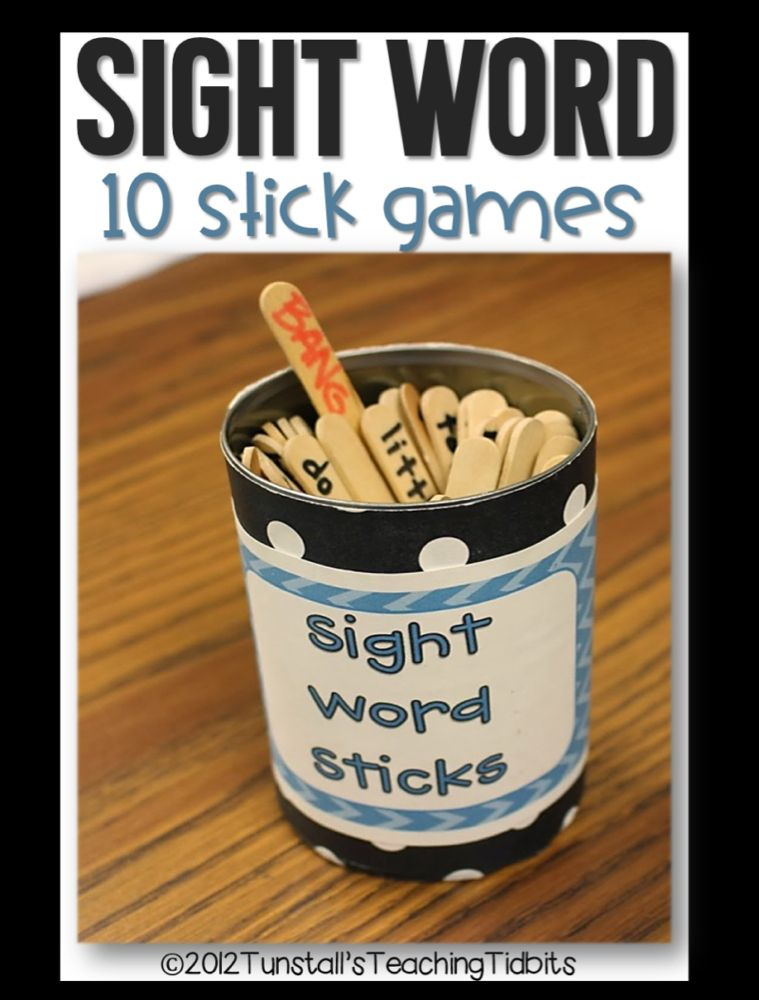 Making Sight Words STICK is part of Sight word games, Spelling word games, Kindergarten games, Sight words, Word games, Games for kids classroom - If you follow me on Facebook, you may already know what I am about to tell you  I took some time this weekend to update my Sight Word Stick Activities! What a joyous occasion  Seriously  We use sight word sticks and math sticks weekly in my room! They are my student's favorite way to practice …