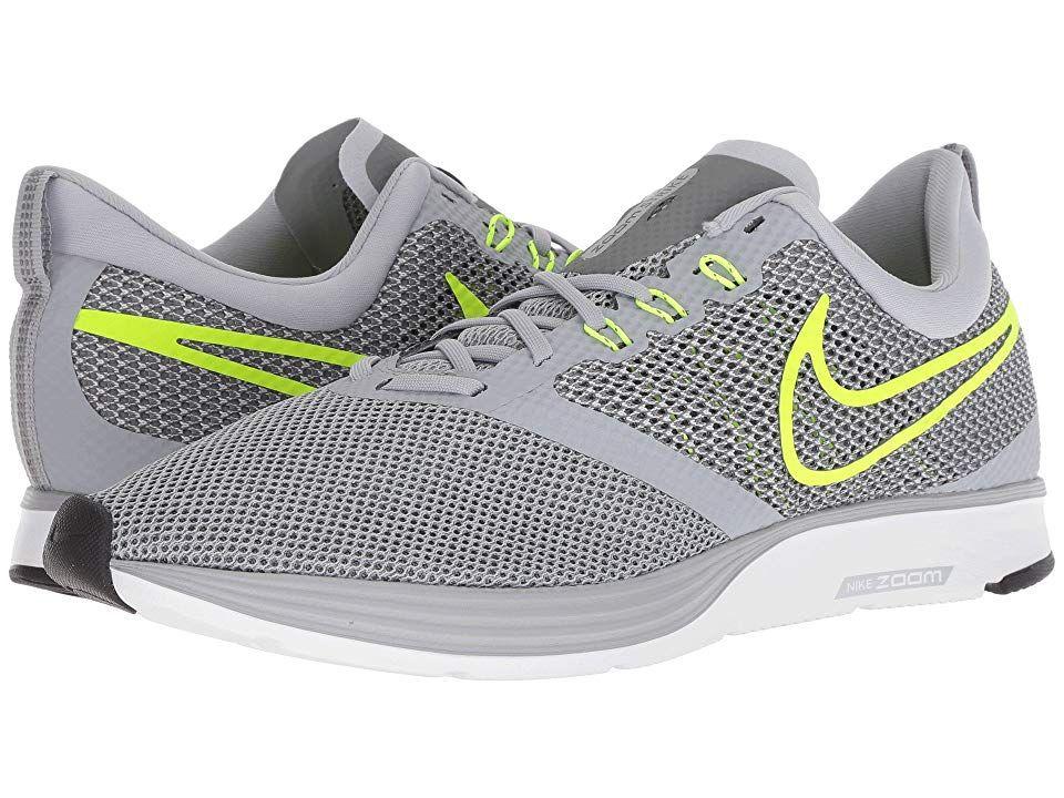 Nike Zoom Strike (Wolf Grey/Volt/Cool Grey/Oil Grey) Men's