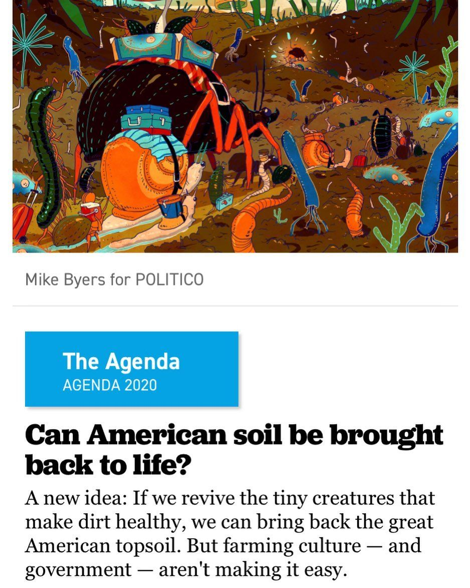 It's time to put soil organisms back to work on American farms! Let's start demanding food from #livingsoil 🌱 Credit to @politico 👊 How are…