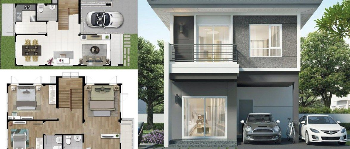 2 Storey Single Detached House 154 Sq M Home Ideas In 2020 Detached House House House Styles