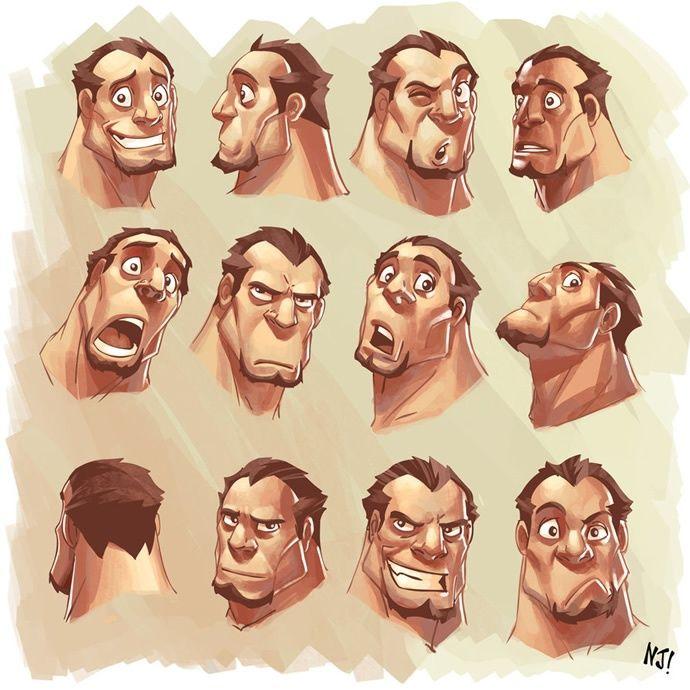 Visage Homme Dessiner Expressions Dessin Visage Expression Visage