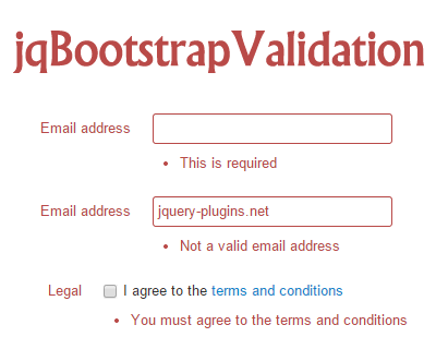Jqbootstrapvalidation Jquery Validation Plugin For Bootstrap