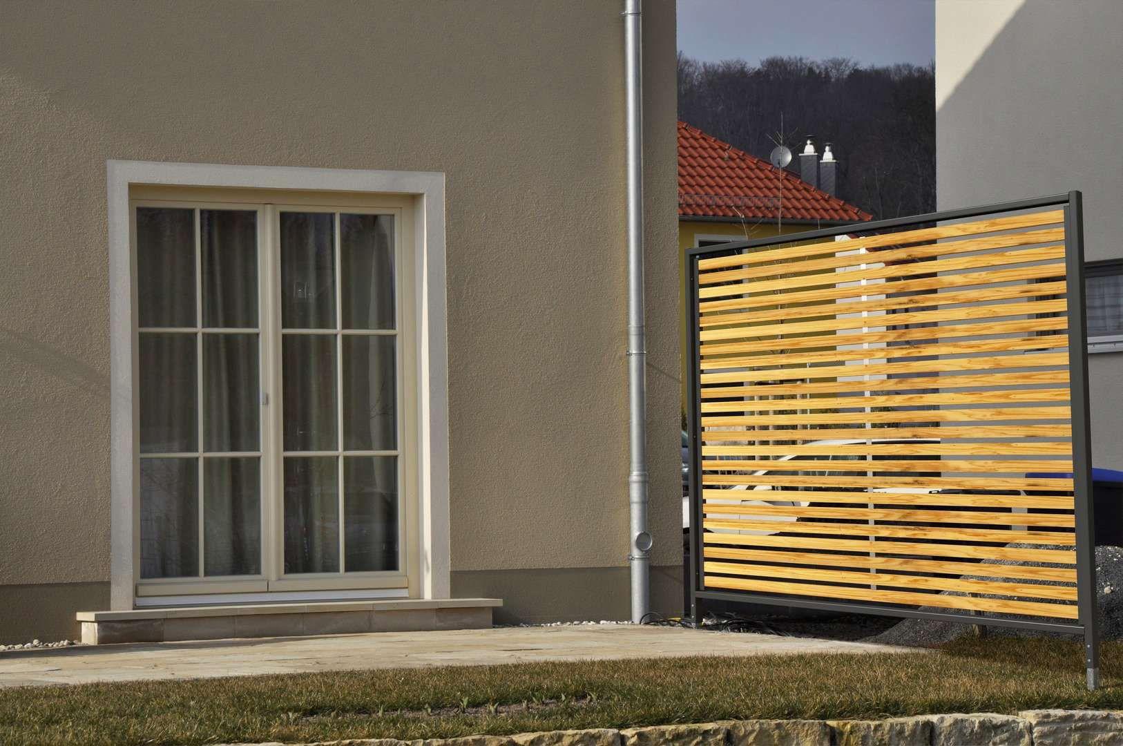 Sichtschutz Zaun Garten Terrasse Balkon Holz Metall Kaufen Mit