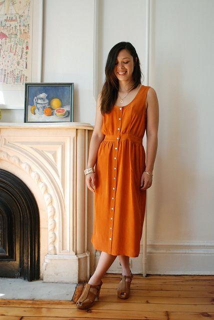 Pretty saffron dress