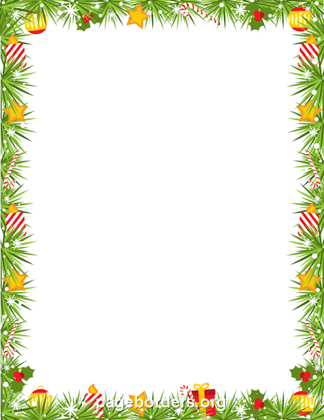 Printable Christmas Garland Border. Use The Border In Microsoft Word Or  Other Programs For Creating  Free Microsoft Word Border Templates