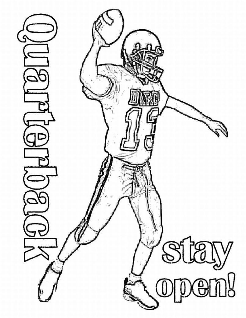 Football Player Coloring Pages Unique Coloring Coloring ...