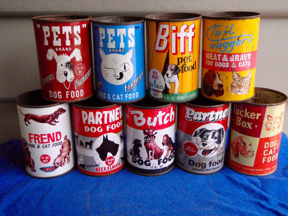 68 Vintage Dog Cat Pet Food Tins 9 Different Australian Brands 9