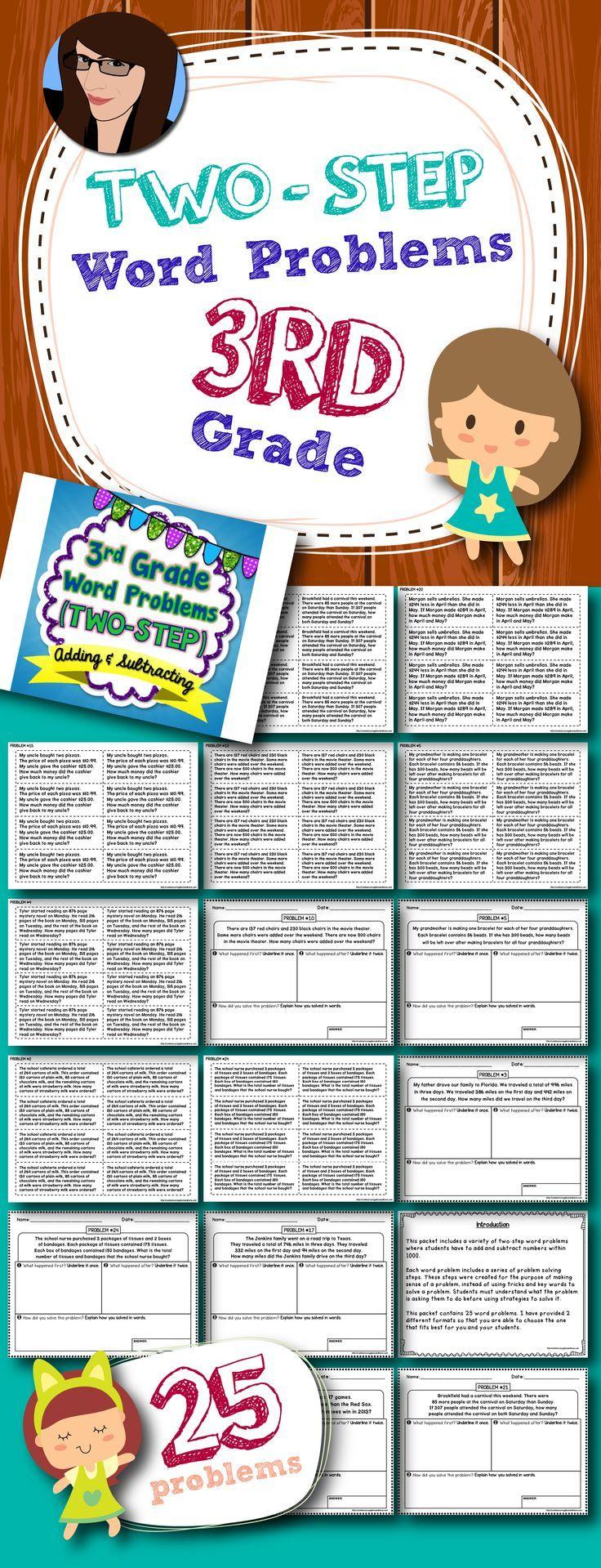 Two-Step Word Problems - 3rd Grade | Problemas de palabras