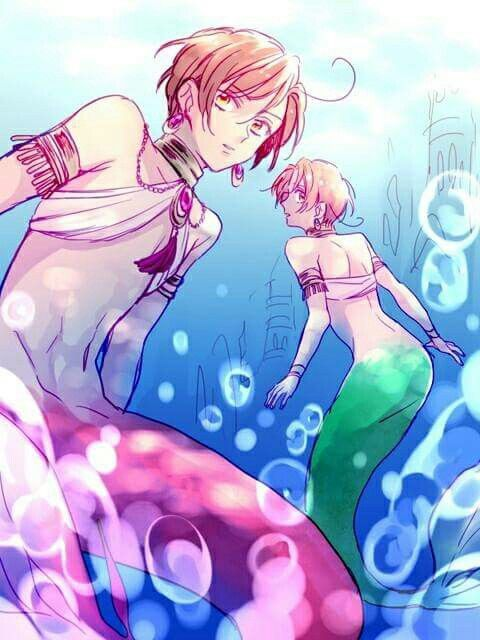 Romano And Italy As Mermaids They Look Sooo Cute Vargas Family