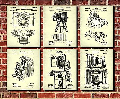 Camera patent prints set of 6 photography blueprint art posters camera patent prints set of 6 photography blueprint art posters photographer view malvernweather Images