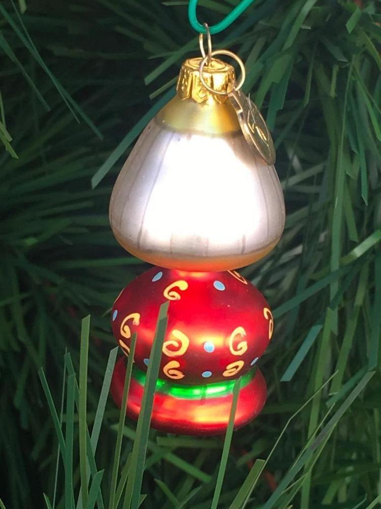 Christmas Ornament Dept  Mini Lantern Vintage Glass Ornament Glass Ornaments Christmas Ornaments Snowman