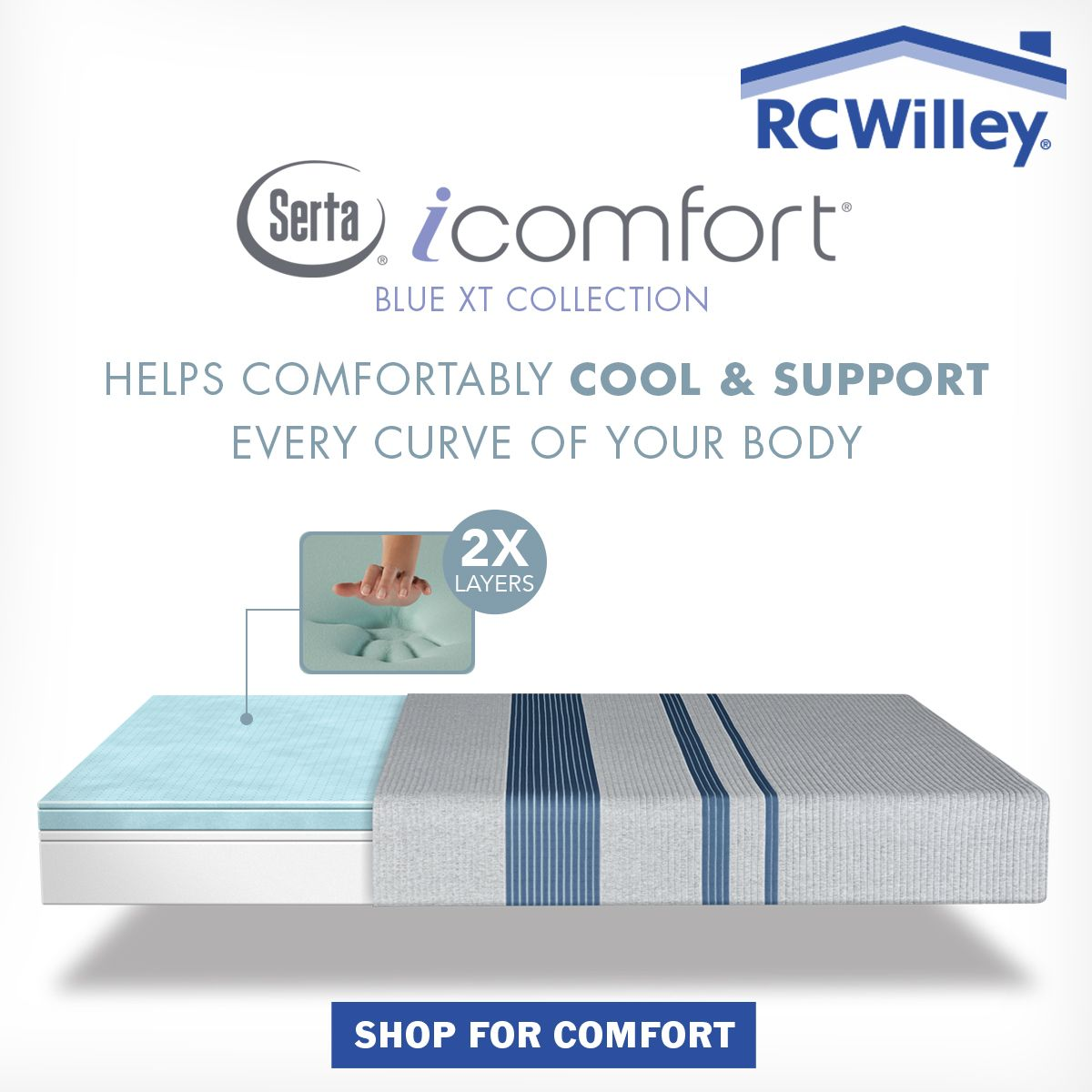 Find The Perfect Mattress At Rc Willey Serta Sertamattresses