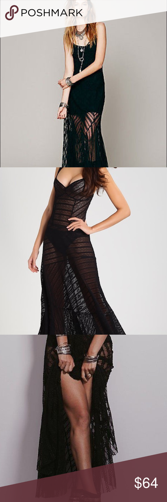 2695049217ef Free People Love Story Lace Maxi Slip Dress Write your own romance novel  with the Free