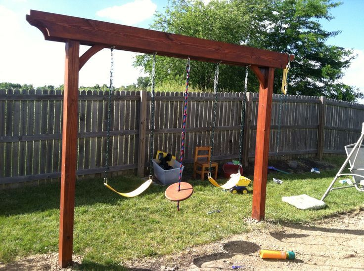 Pergola swing, turned out great - Pergola Swing, Turned Out Great Kids Outdoors Pinterest