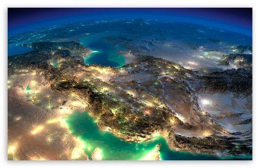 Very Nice Satellite Images Of Iran HD desktop wallpaper