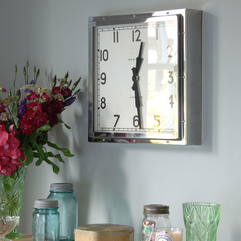 Newgate Quad Wall Clock Mpls Home Art Deco