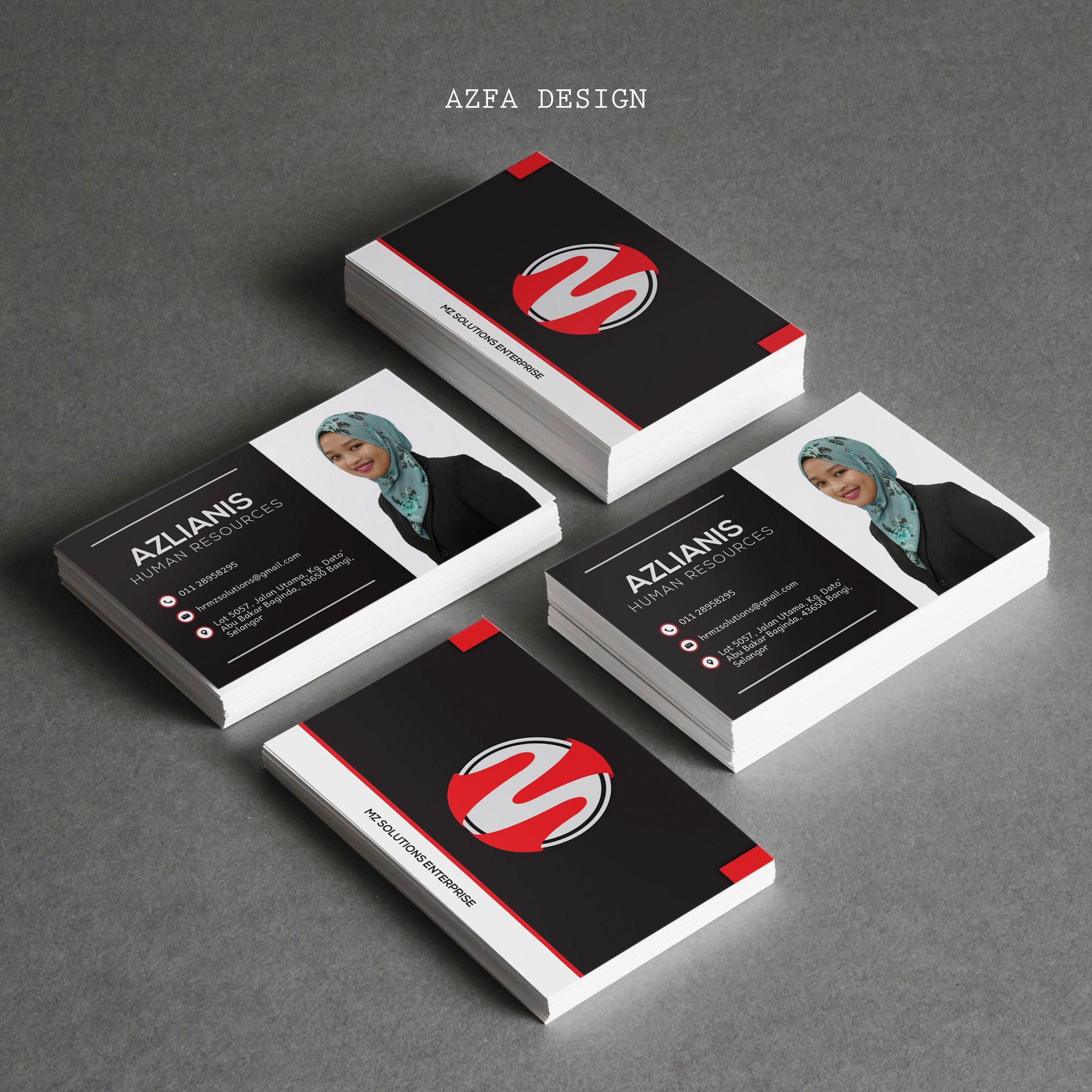 Azfadesign Bisneskad Anda Mahu Nampak Profesional Miliki Bisnes Kad Anda Sekarang B Human Resources Cards Business Cards