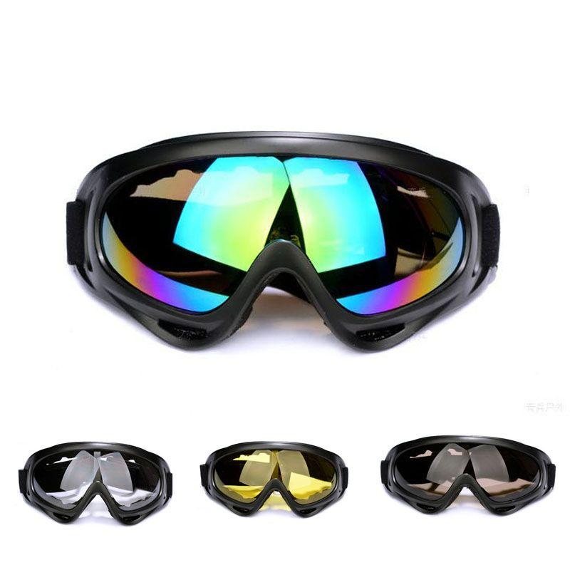 0f067b2b8b Outdoor Windproof Glasses Ski Snow Motorcycle Dustproof Ski ...