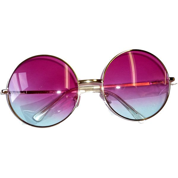 9c21ce8ce5 Janis Joplin Round Glasses Silver Frames 3405 Blue Pink ( 9.88) ❤ liked on  Polyvore featuring accessories