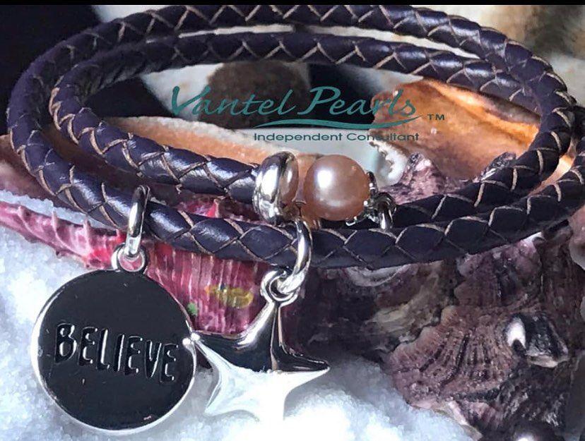 Purple Believe Leather Wrap $55. ...
