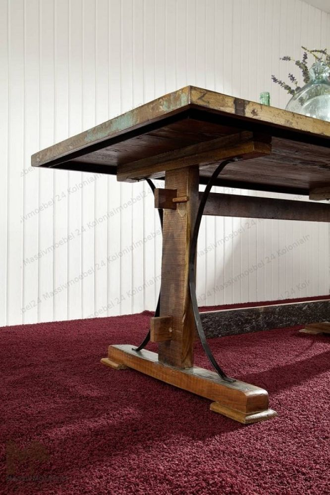 SPIRIT dining table # 11 - 180x90cm Indian waste wood paint. €300