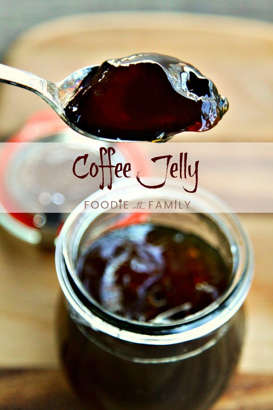 This beautiful brown Coffee Jelly is pure coffee goodness