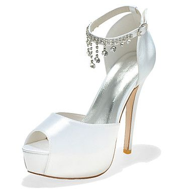 Women S Shoes P Toe Stiletto Heel Satin Pumps With Buckle Wedding More Colors Available Gbp