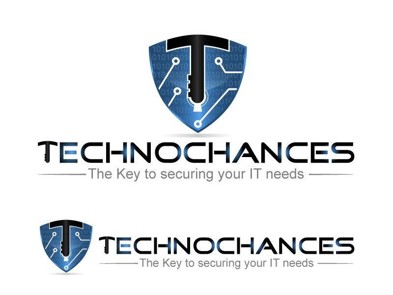 Logo to portray Technochances is the key to IT security by Hetix