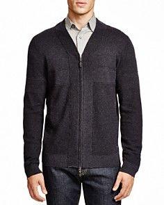 55a4b26b847 BOSS HUGO BOSS Unis V-Neck Zip Cardigan | Men's Design Ideas | Men ...