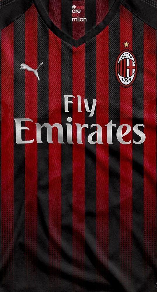Milan With Puma Footballclubwallpapers Ac Milan Milan