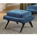 Armen Living - 5th Avenue Button-Tufted Ottoman in Cerulean Blue - LC281OTBL  SPECIAL PRICE: $227.70