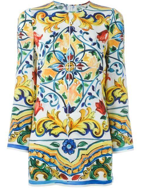 b8ca29a3 DOLCE & GABBANA Majolica Print Tunic Top. #dolcegabbana #cloth #top ...
