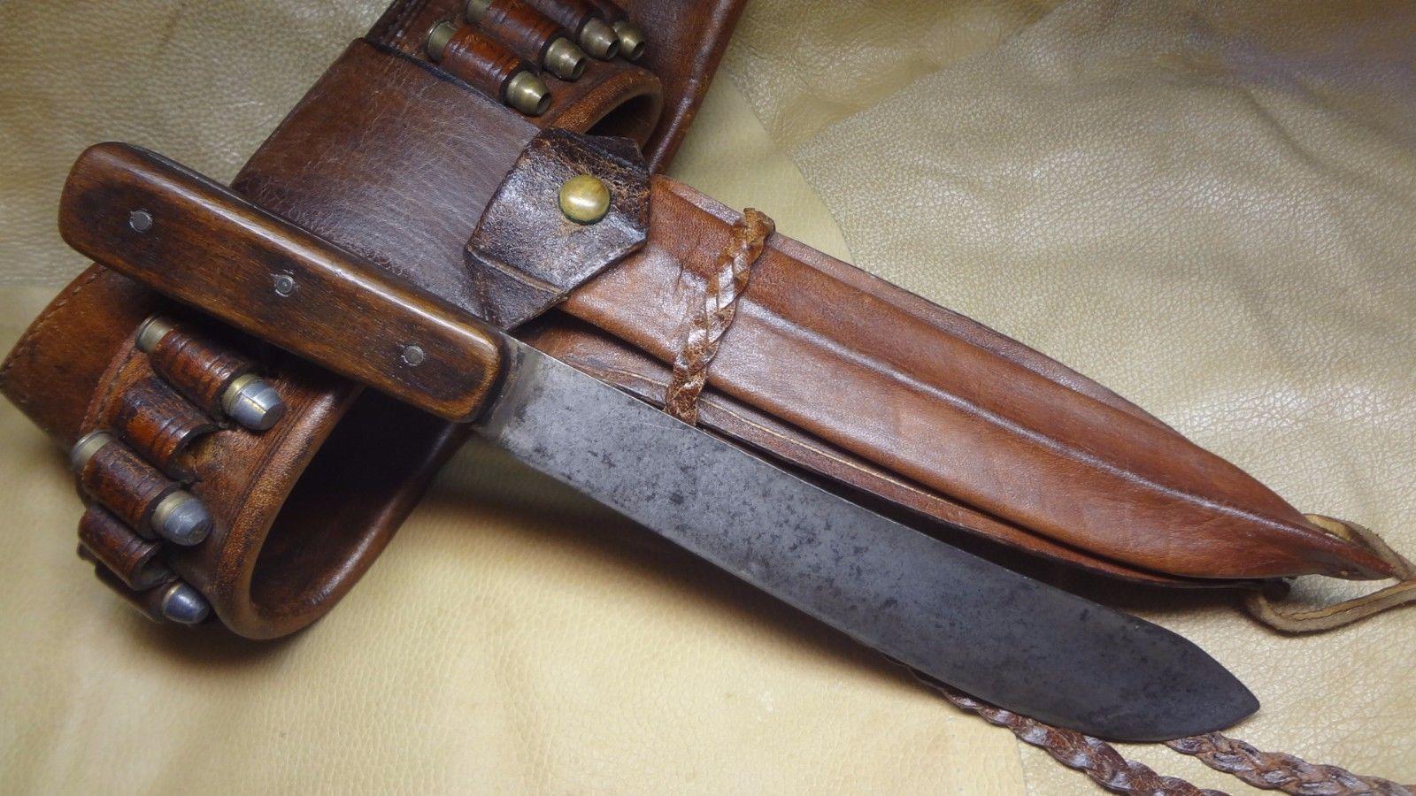 Details About Vintage Sheffield Knife Green River Knife