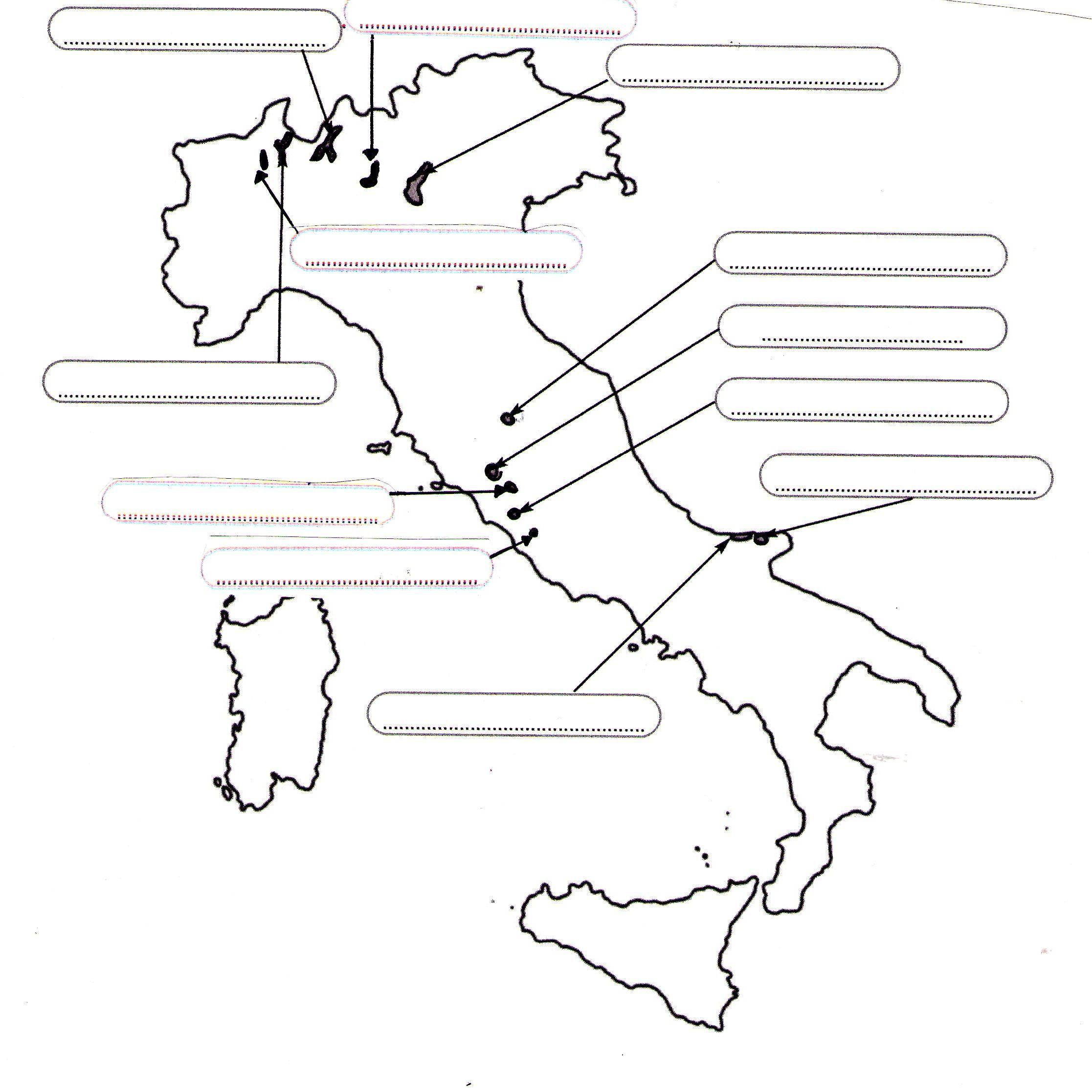 Esercizi Cartina Muta Italia.Laghitaliani Cartamuta Jpg 2233 2233 Scuola Immagini Geografia