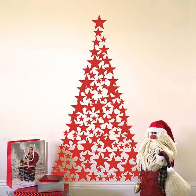 Easy Diy Christmas Wall Decorations : Diy alternative christmas trees adding fun wall