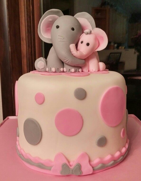 Elephant baby shower cake Pinteres