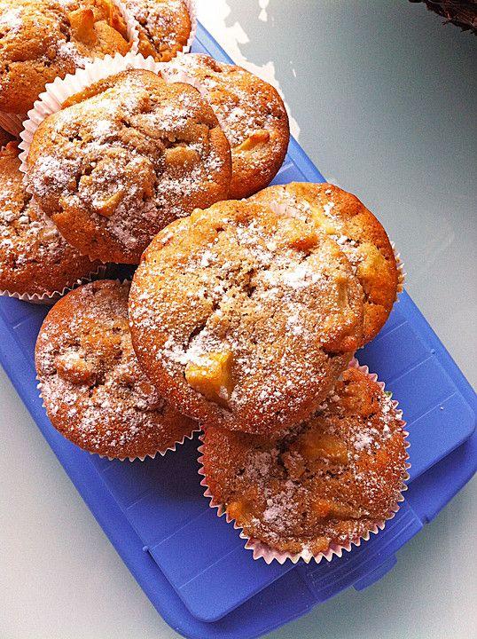 Apfel-Nussmuffins von geferle | Chefkoch #apfelmuffinsrezepte