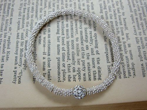 Silver and crystal Mia bracelet