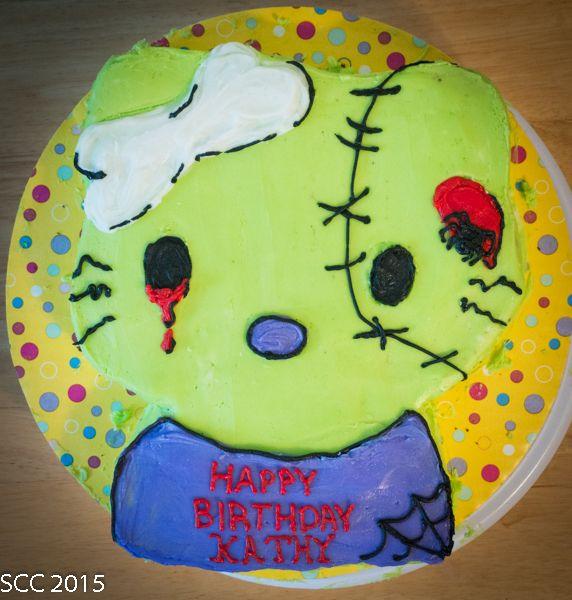 Zombie Hello Kitty Cake Cakes Frosting Pinterest Hello kitty