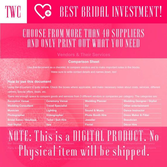 Compare Wedding Suppliers Worksheets Wedding Worksheets Wedding Printables Printable Wedding Sheets Wedding Planning Sheets Wedding Wedding Planning Wedding Consultant Wedding Hire