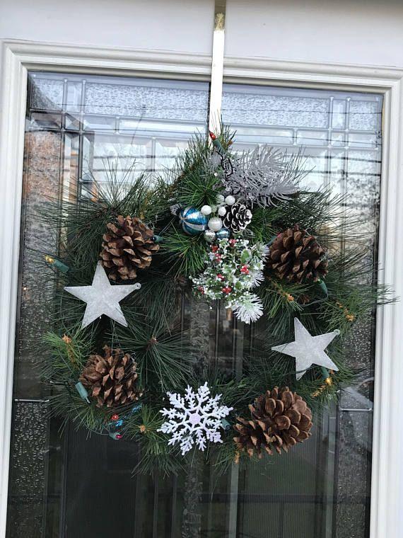 Light-up Holiday Wreath | Holiday wreaths, Wreaths ...