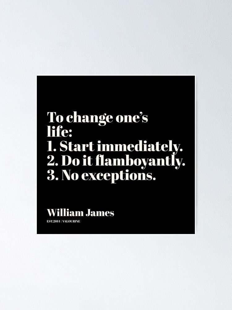 5   | William James Quote| 201025 Father of Psychology Quote  Poster by QuotesGalore